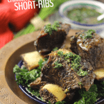 Spice up your dinners with this herby and flavorful Chimichurri Braised Short-Ribs recipe. It makes an easy weekday dinner or fancy recipe for guests and requires less work to cook than you think!