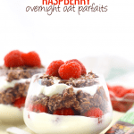 Have yourself a yummy breakfast in two easy steps with this Chocolate Raspberry Overnight Oat Parfaits. With the fibre and whole-grains from oatmeal, the antioxidants from the raspberries and the protein from the greek yogurt this breakfast recipe will keep you satisfied for hours!