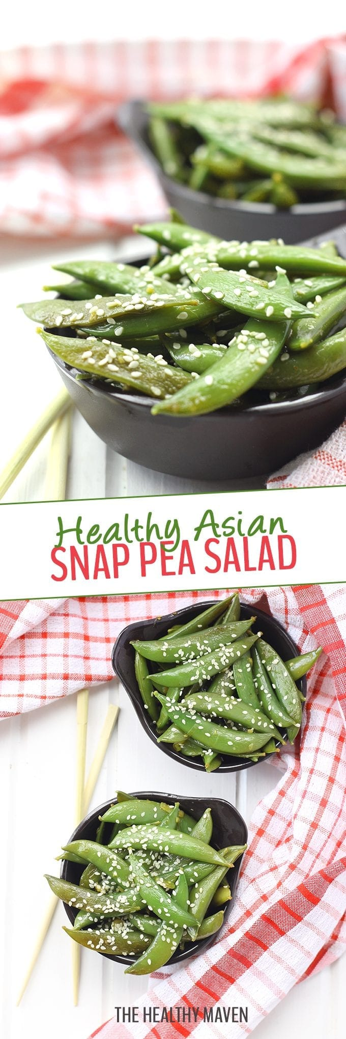 Get in your greens with this Healthy Asian Snap Pea Salad. It's super simple to make and coated with a light sesame-ginger dressing. You'll definitely be going back for seconds!