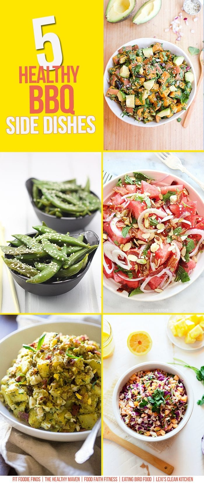 From Coleslaw to Potato Salad, this round-up includes 5 Healthy Side Dish Recipes for your next BBQ! They're all gluten-free, dairy-free and paleo-friendly!