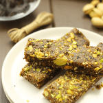 These No-Bake Cherry Pistachio Bars are made with just 5 ingredients and are ready in 20 minutes. They're also completely raw and make a fantastic snack on the run. Who says you need to turn your oven on to make yourself a great snack!