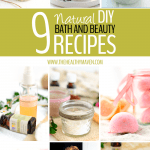 9 Natural DIY Bath and Beauty Recipes to help you clean up your bathroom products! Health includes what you put on your body too!