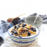 Made with nuts, dried and fresh fruit, almond milk and rolled oats, you will quickly discover why this is the best ever bircher muesli! Just whip up the night before, place in the refrigerator and you have breakfast waiting for you in the morning. This is the easiest and most delicious breakfast you