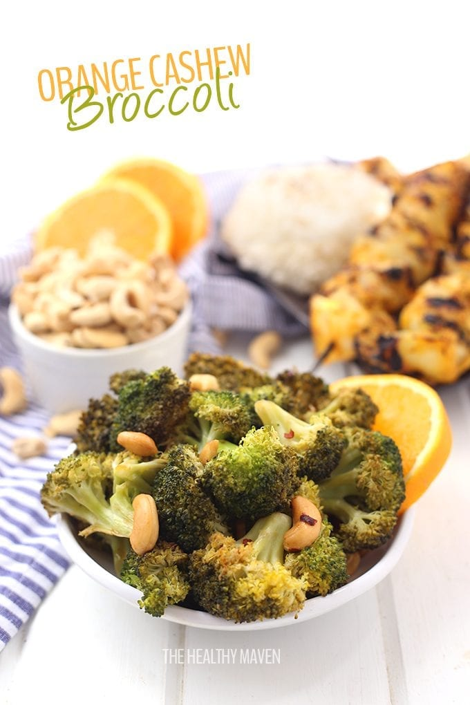An easy side dish ready in under 10 minutes, this Orange Cashew Broccoli will quickly become part of your weekday meals. A few simple ingredients and a stovetop is all you need to have a healthy side dish recipe for your next dinner.