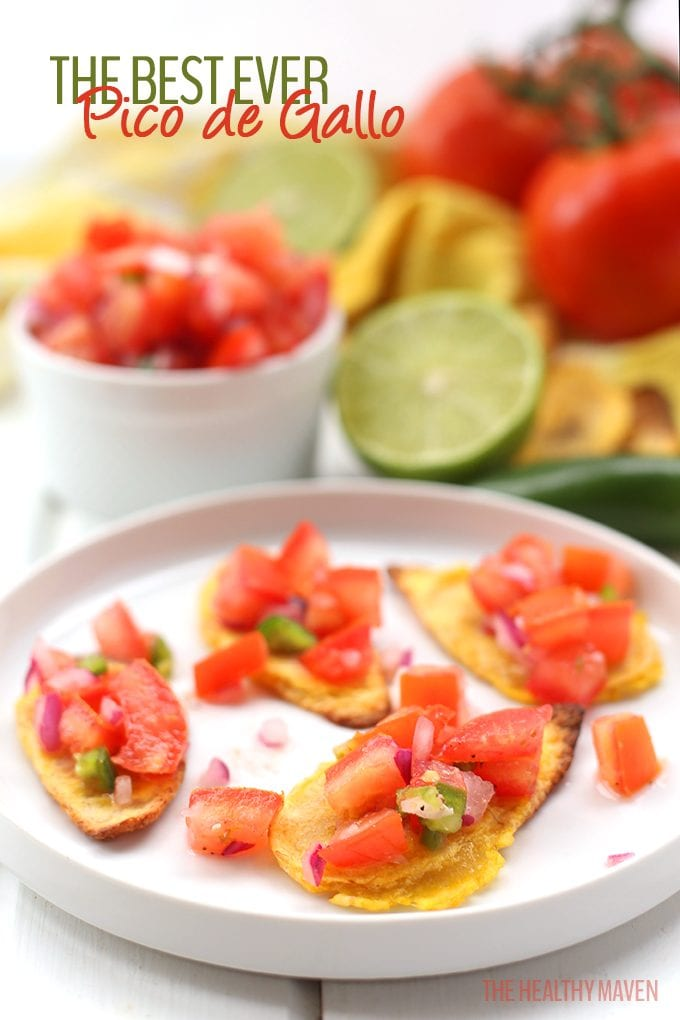 This is the Best Ever Pico de Gallo recipe! Made with fresh tomato, onion, and jalapeno, and lime juice, this Mexican favorite will become your new go-to snack or dinner topping. It pairs well with everything and it takes minutes to make!