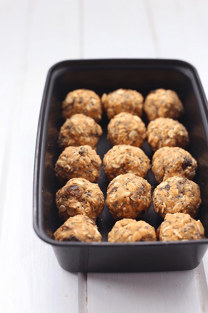 No-Bake Oatmeal Protein Balls - The Healthy Maven