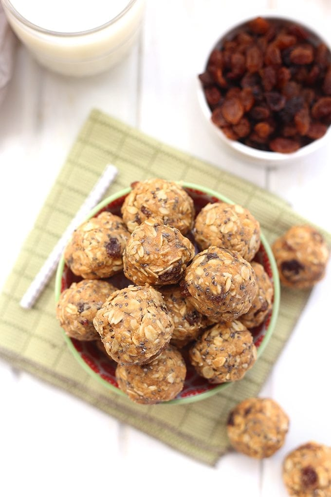 No Bake Oatmeal Protein Balls The Healthy Maven