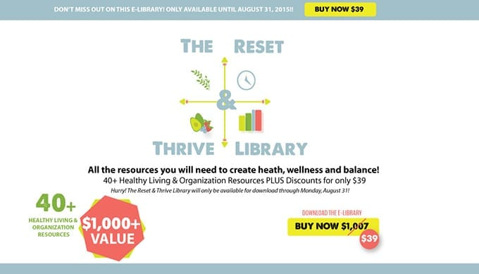 The Reset & Thrive Library Horizontal Banner