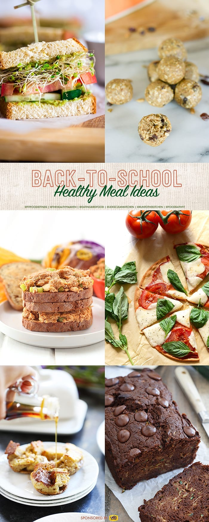 Healthy Back-To-School Meal Ideas for Kiddos and Adults alike! From breakfast, to lunch, to dinner, we've got you covered.