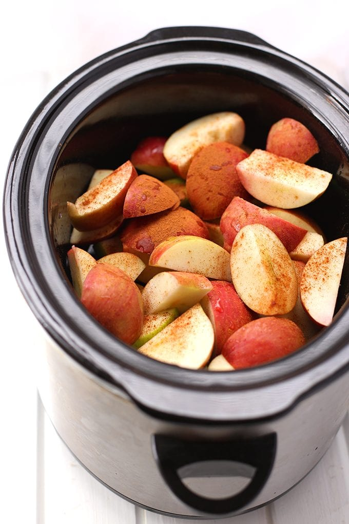 Applesauce made in the crockpot