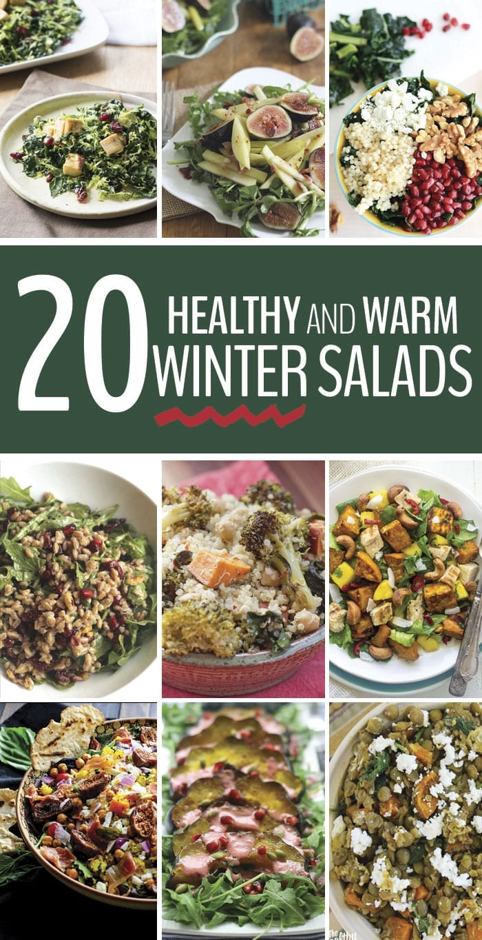 Here are 20 healthy warm winter salads that will keep you healthy, full and out of hibernation all winter long. The perfect alternative to winter soups!