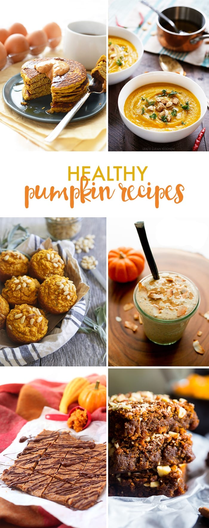 A round-up of 6 healthy ways to use pumpkin in your fall recipes!