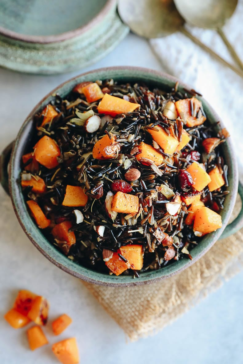 wild rice pilaf recipe with cranberries and butternut squash
