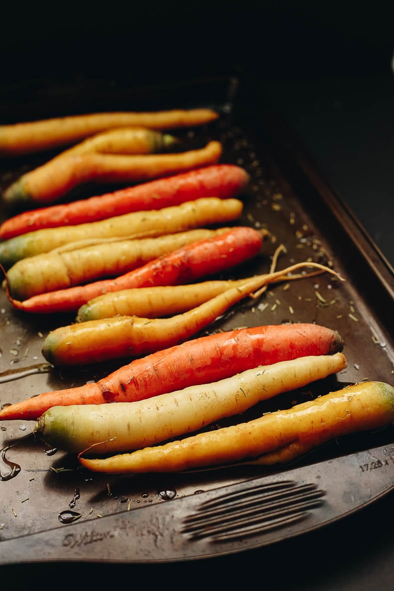 Beautiful heirloom carrots for this delicious and healthy carrot ginger soup recipe