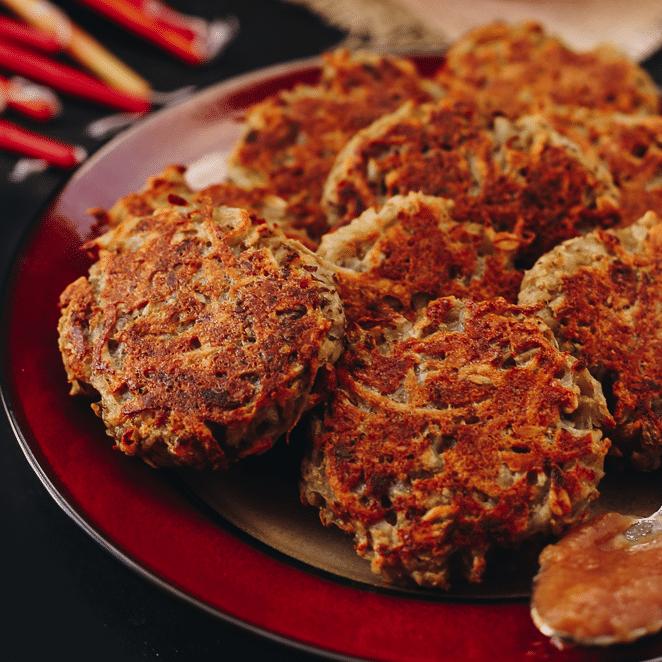 The BEST Baked Latkes [Gluten-Free + Vegan]