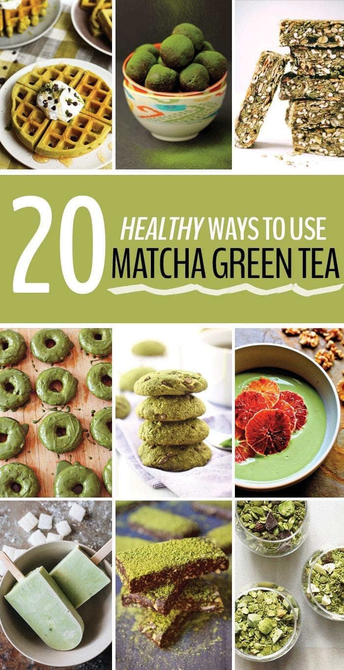 20 healthy recipes with matcha green tea