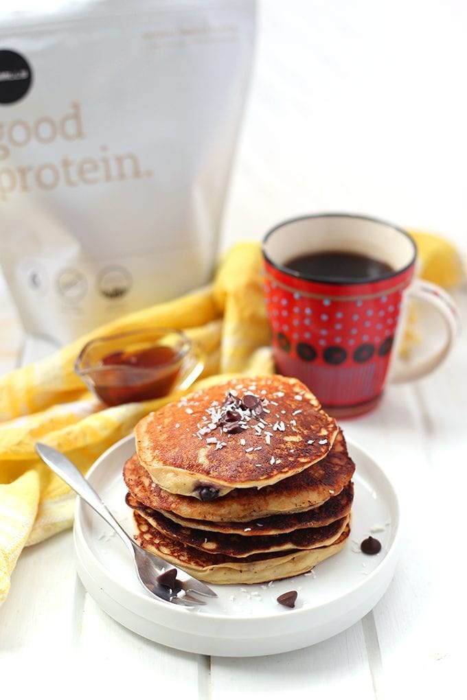 Kick your mornings off with an extra dose of protein with these healthy and customizable protein pancakes. I've got the base and you've got the creativity to make these pancakes exactly how you like them!