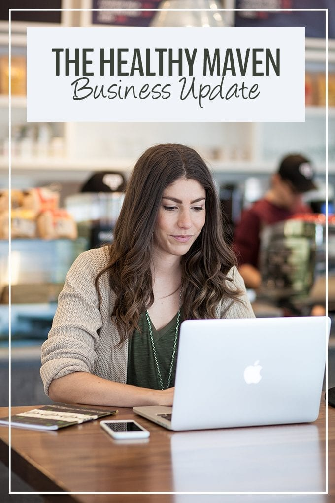 3 years in - a business update on healthy food blog, The Healthy Maven.