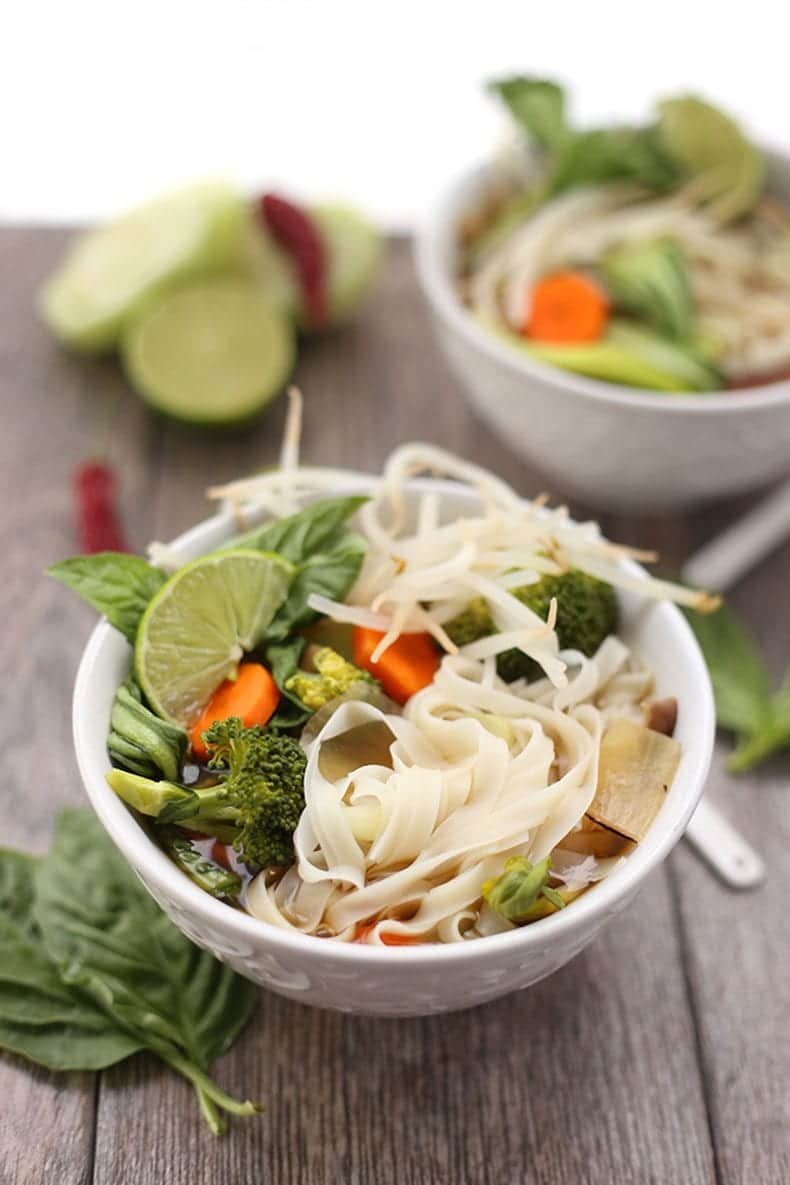 vegetarian pho in a bowl