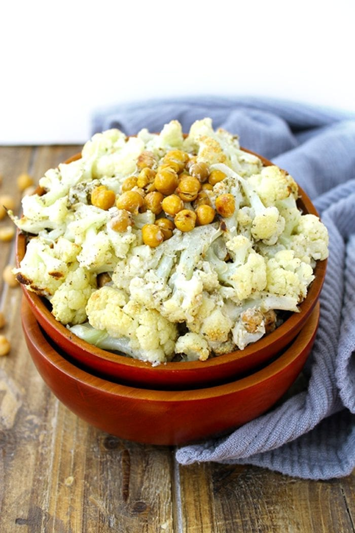 Roasted-Cauliflower-and-Chickpeas-with-Tahini-Zatar-Sauce