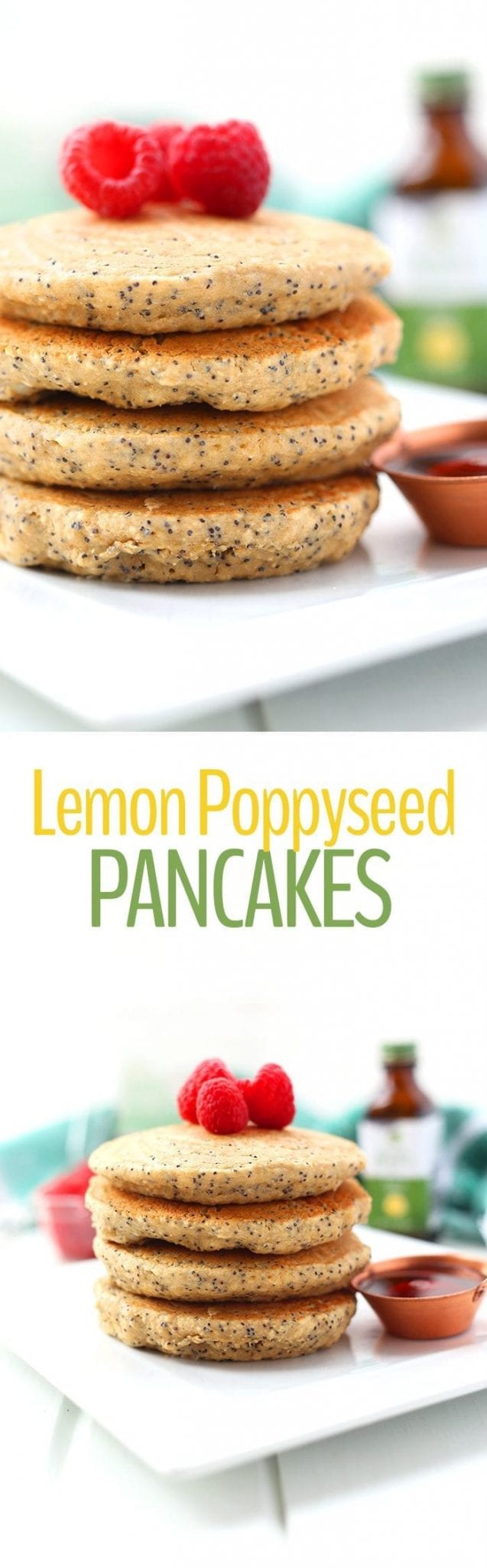 Spring into action with these Healthy Lemon Poppyseed Pancakes! They're made with wholesome ingredients that will make you feel good about your next brunch recipe.