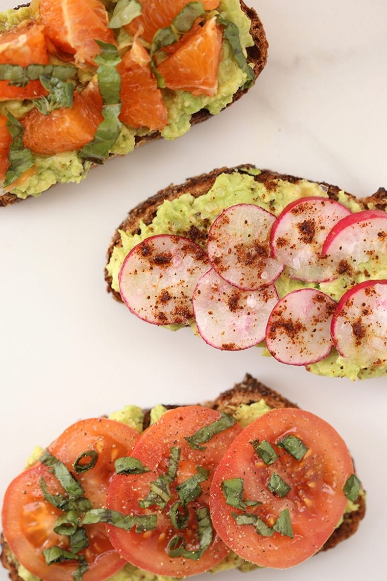 Change up your toast game with these Unique Avocado Toast Recipes. Add some spice, flavor and even a sweet twist to kick your avocado toast up a notch! The ultimate healthy breakfast, lunch or snack!