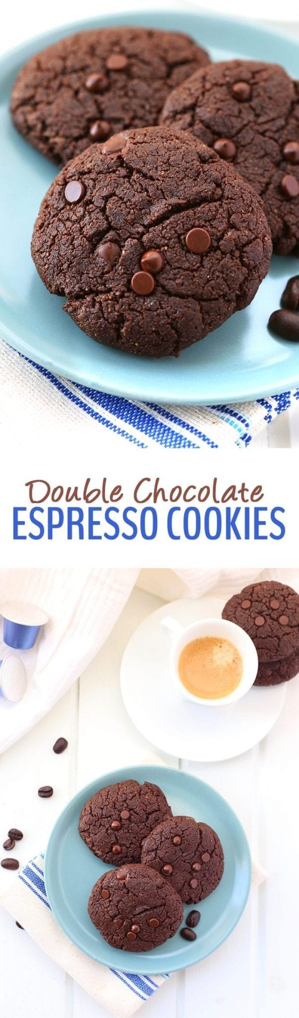 Chocolate meets coffee in these Double Chocolate Espresso Cookies. Your ultimate indulgences just got a healthy makeover with these gluten-free, vegan and paleo cookies.