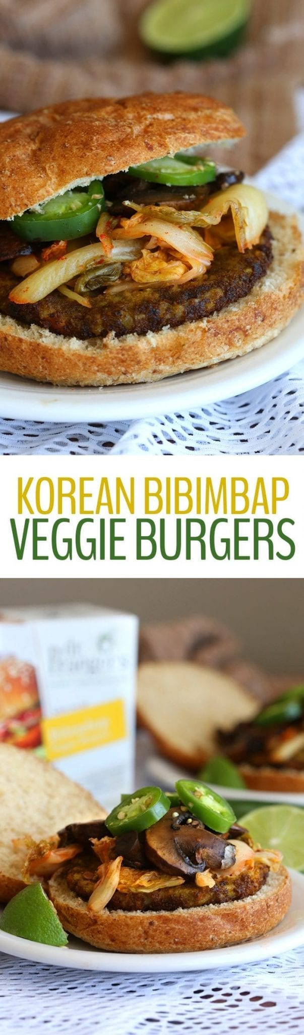 These Korean Veggie Burgers made for a flavorful and asian-inspired meal for a quick weeknight dinner. With Bibimbap burgers, kimchi and bulgogi mushrooms, plant-based eating just got even more delicious!