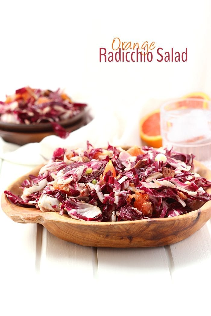 For a fresh spring salad recipe, whip up this Orange Radicchio Salad and get the ultimate mixture of sweet and savory. Topped with a maple vinaigrette, this easy and flavorful salad will become a salad staple.