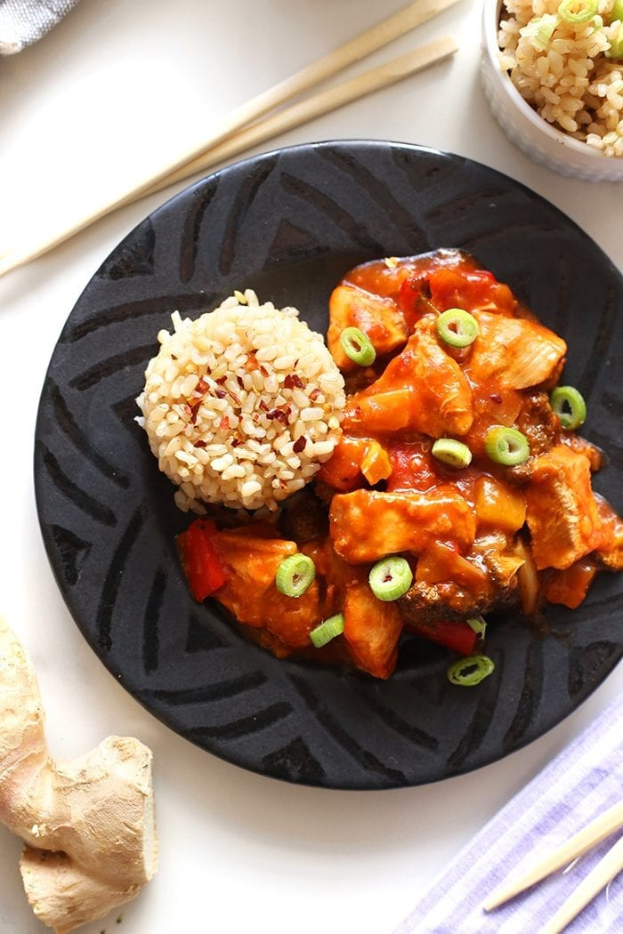 No need to order takeout with this Slow Cooker Sweet and Sour Chicken. Perfectly tart and sweet all at the same time, this easy, one-pot dinner recipe is sure to be a family favorite!