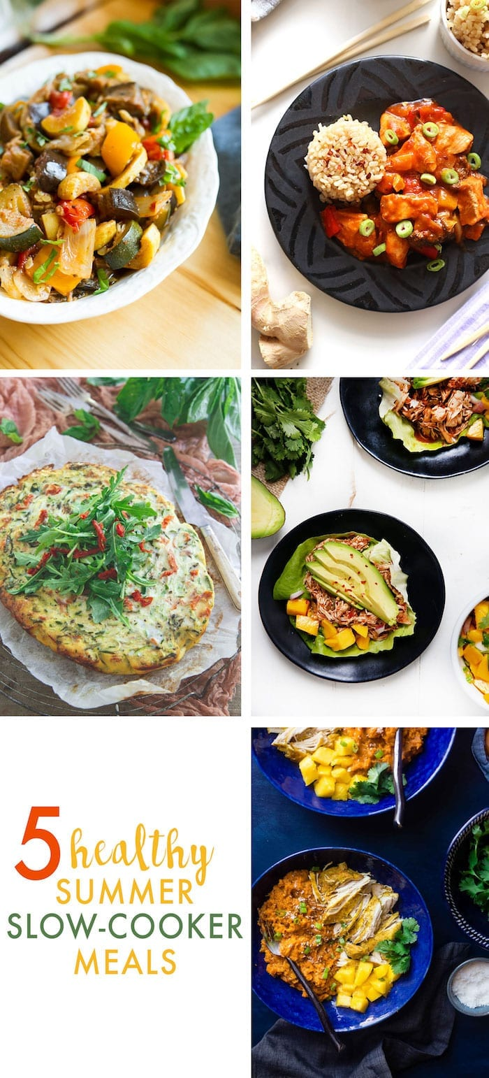 5 Healthy Summer Slow Cooker Recipes - don't bother turning on your oven all summer long!
