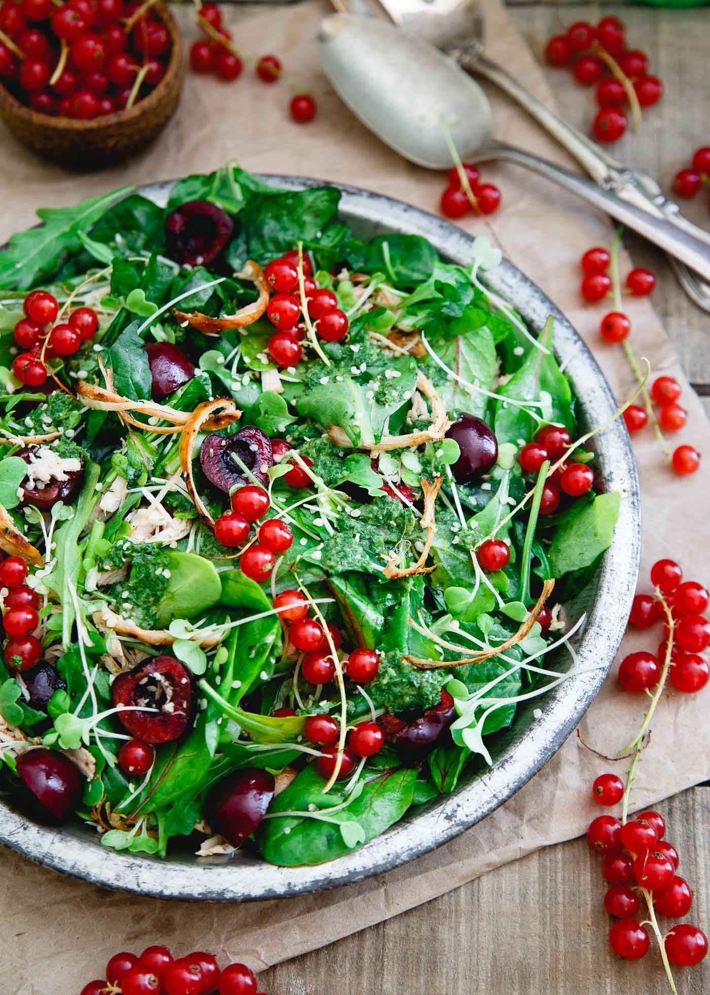 Baby Kale Chicken Cherry Salad group-3