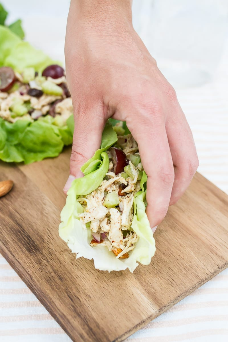 almond butter chicken salad-5