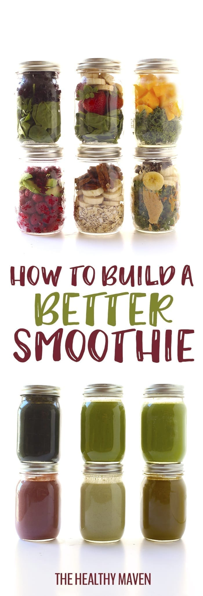 Whether you're new to smoothies or an experienced blender, this post will teach you how to build a better smoothie to add more nutrition, delicious flavor and added sustenance to your breakfast game.