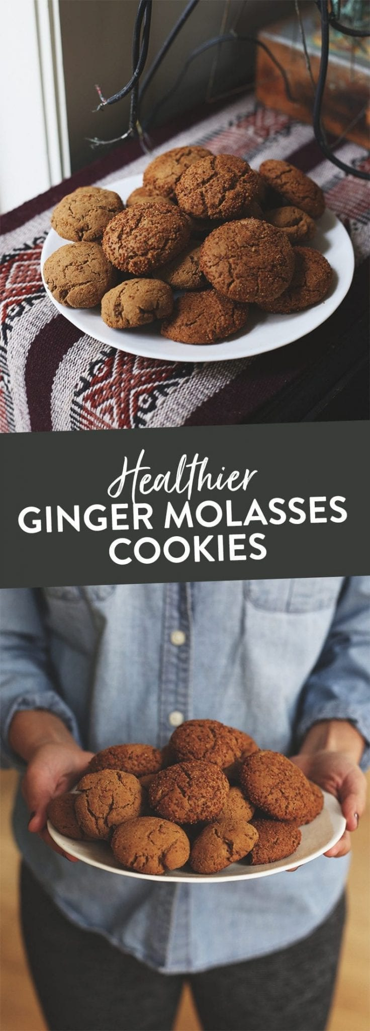 A recipe for healthier ginger molasses cookies, made with unrefined coconut sugar, light on the butter and a zesty spice mix. Sub gluten-free flour for a gluten-free alternative or keep regular for an equally delicious cookie recipe.