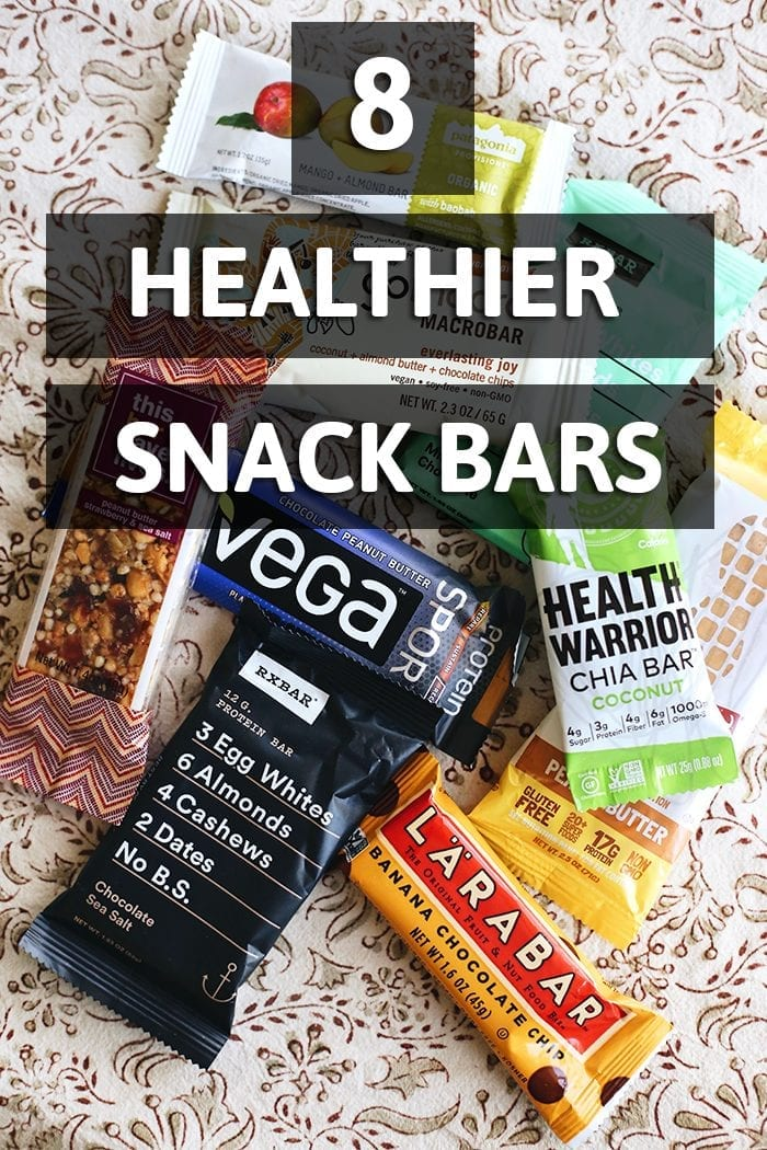 Looking for a healthier snack bar? This list rounds up 8 Healthier Store-Bought Snacks so that you can stick to your health goals when snacking out.