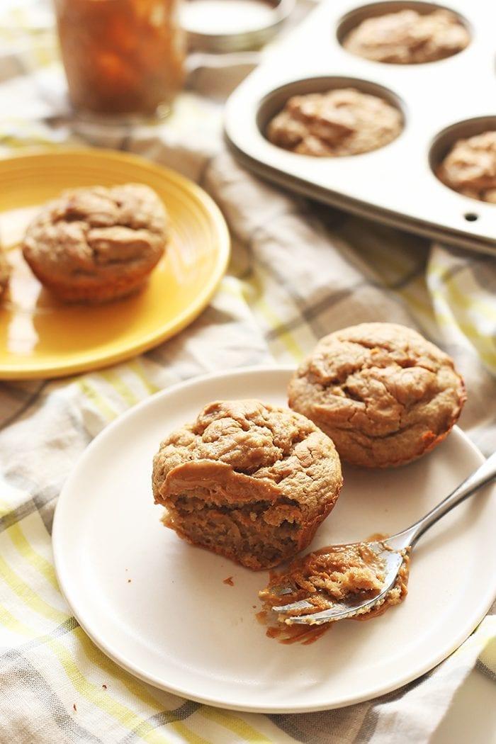 Healthy-Banana-Peanut-Butter-Muffins