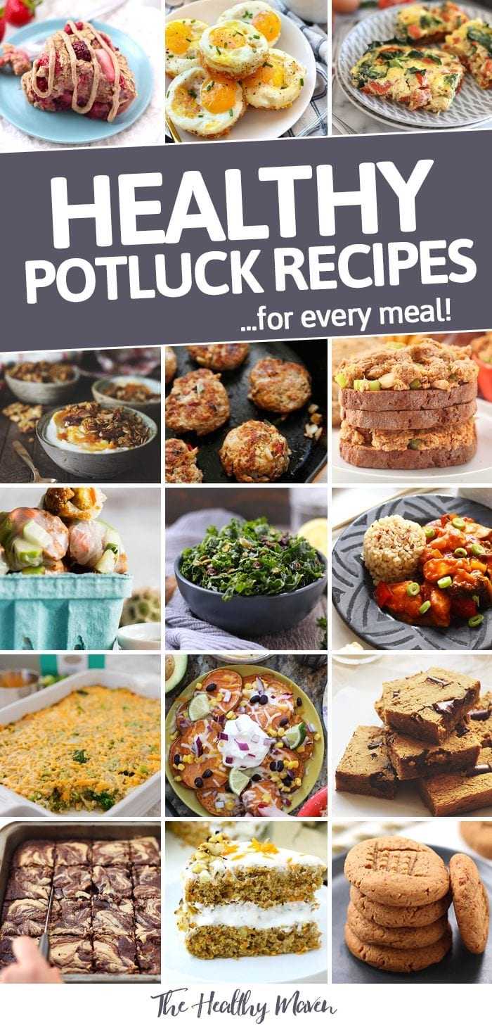 Not sure what to bring to your next potluck? The ultimate potluck dish round-up has got you covered for breakfast, lunch, dinner and dessert at your next potluck!