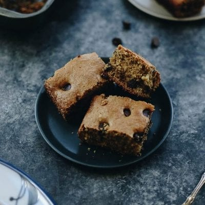 Never tried baking with tahini? Start with these Chocolate Chip Tahini Bars! They're chewy and packed with melted chocolate for a decadent sweet made with healthier ingredients.