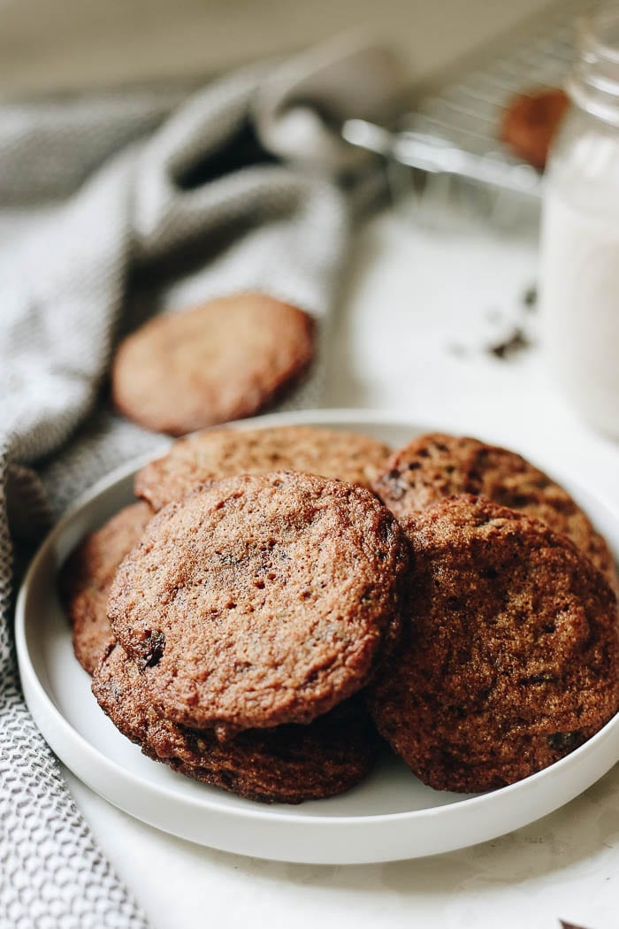Crispy on the outside, chewy on the inside, these gluten-free chocolate chip cookies will have everyone fooled whether they're gluten-free or not! Just because you don't eat gluten doesn't mean you shouldn't be able to indulge in everyone's favorite cookie recipe!