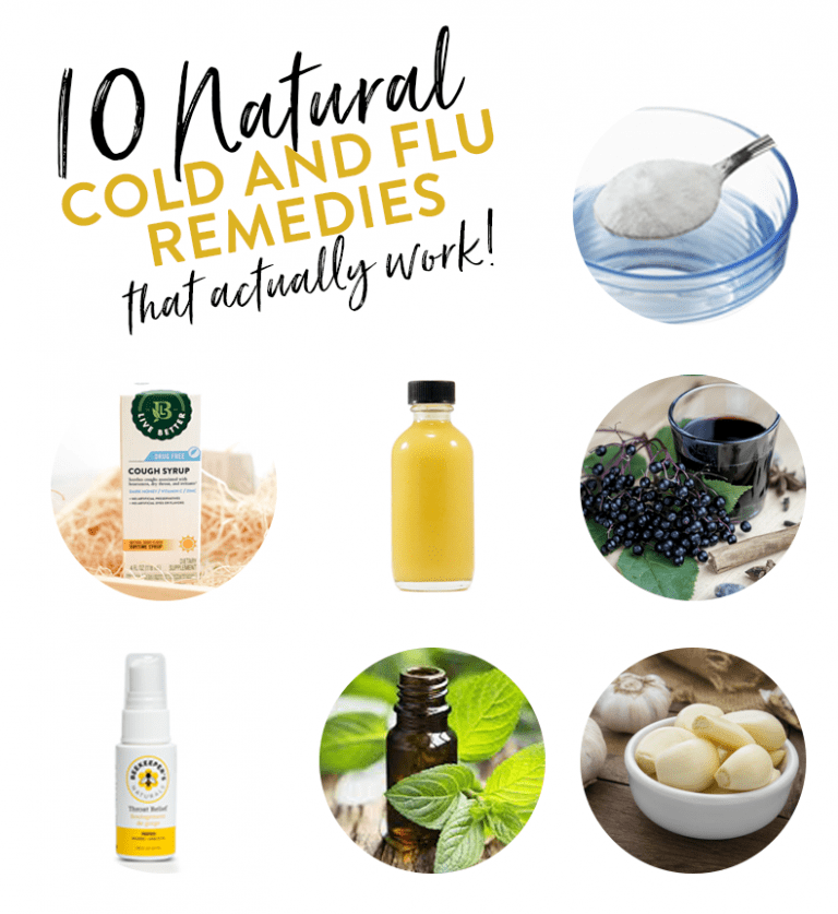 Getting sick? Don't reach for the medicine cabinet! Here are 10 Natural Cold and Flu Remedies that actually work from ingredients you have in your kitchen!