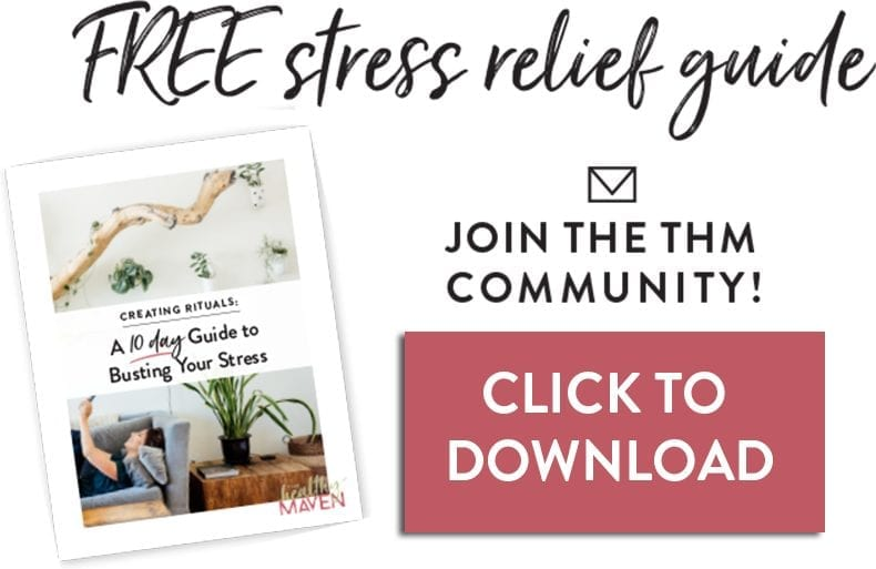 Life is inherently stressful, but what if I told you that I didn't have to be as bad as you think? In my FREE stress relief ebook, Creating Rituals, I'm showing you how!