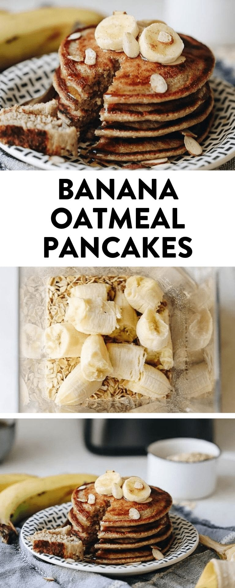 Easy clean-up and delicious flavor with these banana oatmeal pancakes that can be made entirely in the blender!