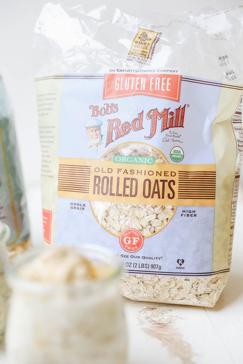 Bob's Red Mill - the best oatmeal to use for your quick, easy and healthy overnight oat jars.