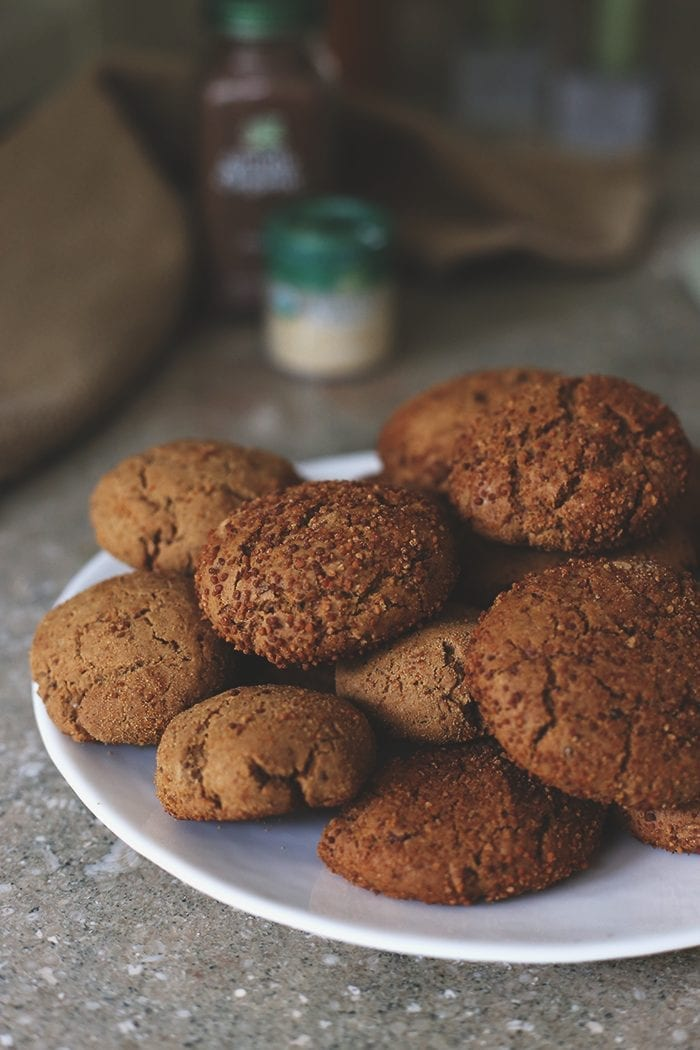 Healthier Ginger Molasses Cookies