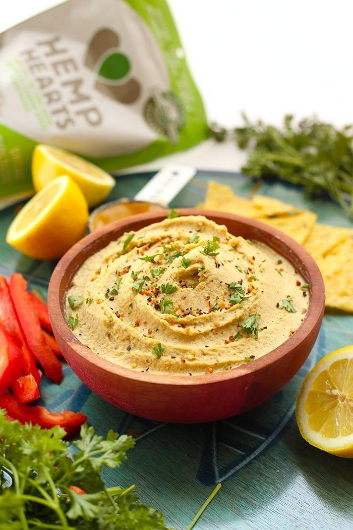 Lemon Hemp Hummus