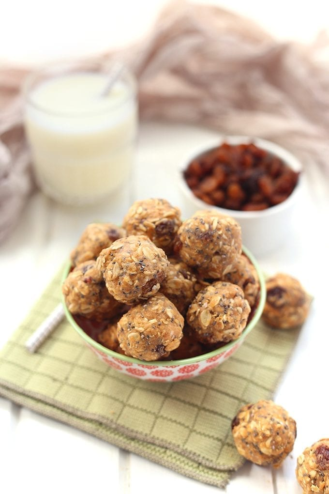 No Bake Oatmeal Protein Energy Balls The Healthy Maven