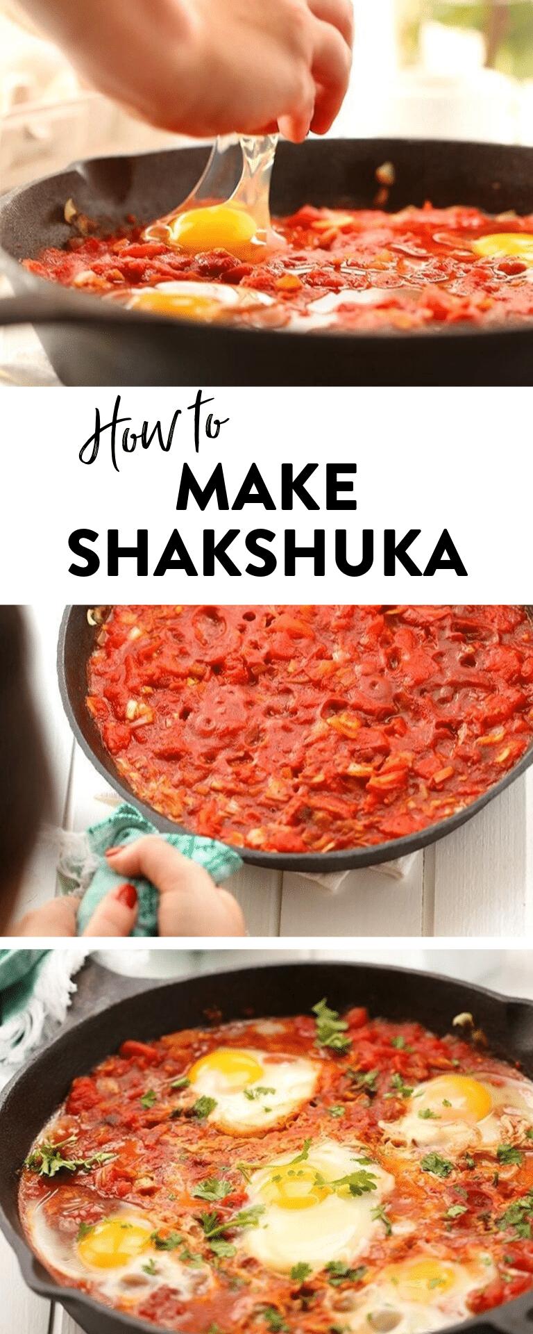 Have you wanted to learn how to make shakshuka? This easy shakshuka recipe teaches you how to make this traditional israeli shakshuka from scratch! #shakshuka