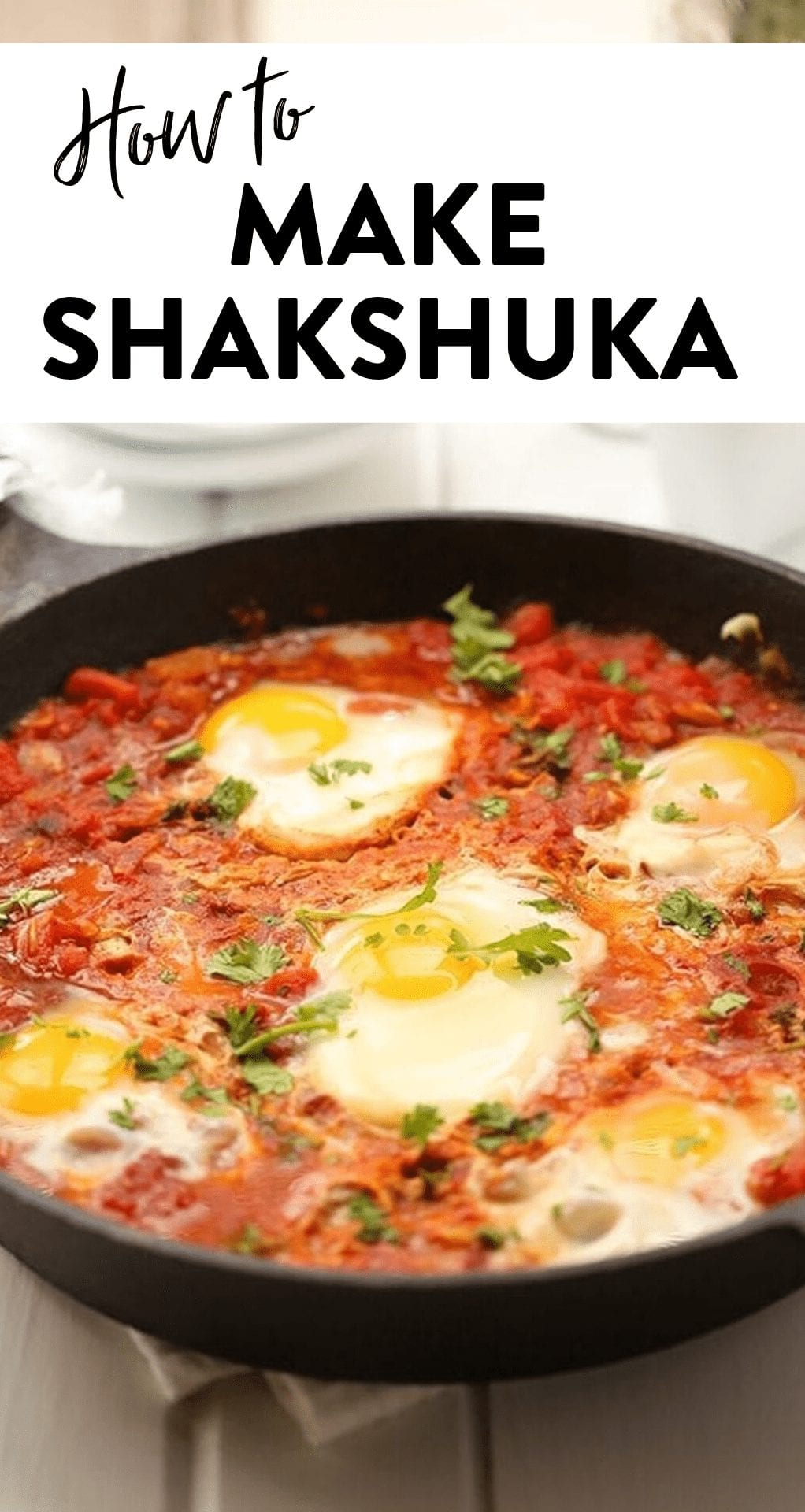 Curious how to make shakshuka? This tutorial will walk you through a basic shakshuka recipe so you can make this delicious middle eastern dish at home! #shakshuka