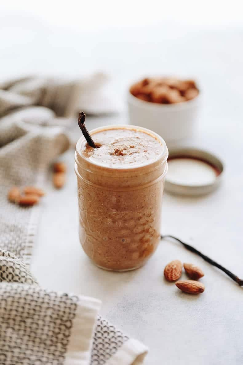 Grab a spoon because this Vanilla Sea Salt Almond Butter is completely addicted! Made with lightly roasted almonds, sea salt and vanilla, you'll never go back to your regular almond butter recipe